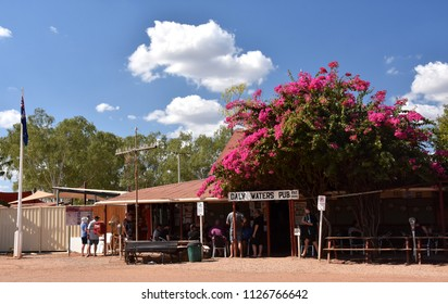 Daly Waters, Australia - Jun 13, 2018. The famous Daly Waters historic pub, which is decorated throughout with banknotes and other memorabilia left by visitors from every corner of the globe.