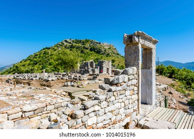 Dalyan Caunos Ancient City view in Turkey