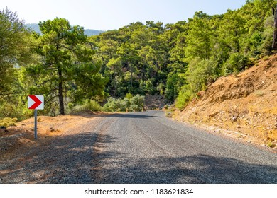 Dalyan forest road concealed by red pine forests and with a peaceful and untouched appearance. Dalyan is a town and district of Mugla Province in the Aegean region of Turkey.