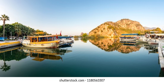 Dalyan Town riverside view in Turkey
