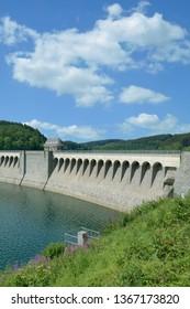 Dam between Listertalsperre and Biggesee Reservoir,Sauerland region,North Rhine westphalia,Germany