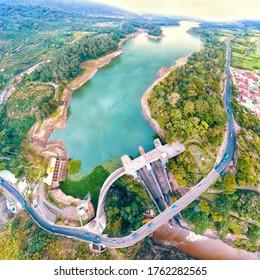 Dam Cachi in Cartago Costa Rica. Photo taken with drone