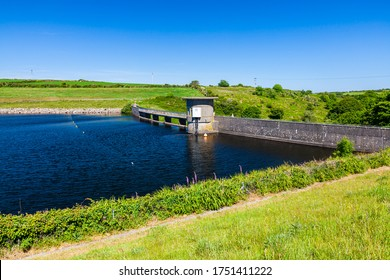 Dam at Drift Reservoir supplies water to much of West Cornwall England UK Europe
