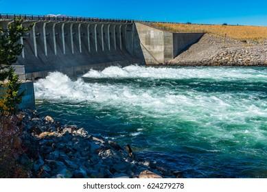 Dam gate of Jackson Dam in Grand Teton National Park