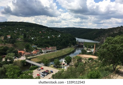Dam and houses in Znojmo, Czech Republic