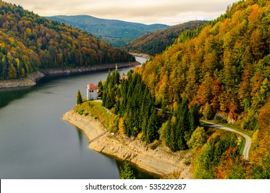 Dam - Lake Dragan, from Transylvania Cluj County, Romania, Europe