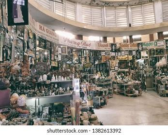 Dam market, Nha Trang, Vietnam - 2nd Apr, 2019 - the best place for shopping in Nha Trang