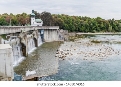 Dam on river Lech near Augsburg, Germany