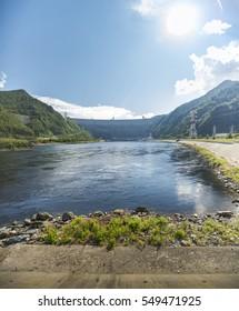 The dam of the Sayano-Shushenskaya hydro power plant.