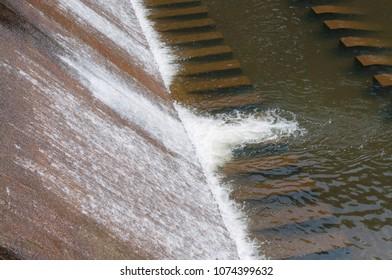 Dam Waterfall Water release During the growing season