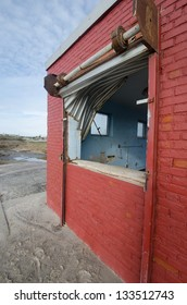 Damage caused by hurricane Sandy at Riis Park, Queens, New York.