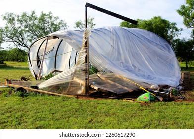 Damage Greenhouse after 126 mile wind storm