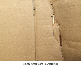 Damage on surface carton box.