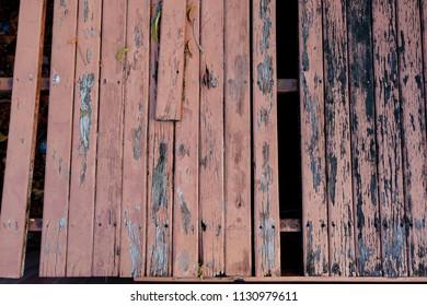 Damage wooden balcony floor.
