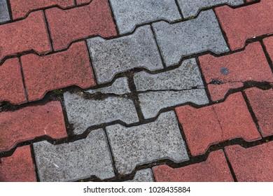 Terracotta Bad texture paving slabs shaped terracotta stock photo royalty free