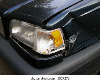 Damaged automobile.