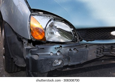 damaged cars after collision