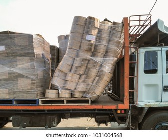 Damaged goods on trucks, Transport accident, Accident of sorting, Accident of placing goods