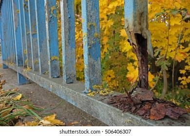 damaged handrail