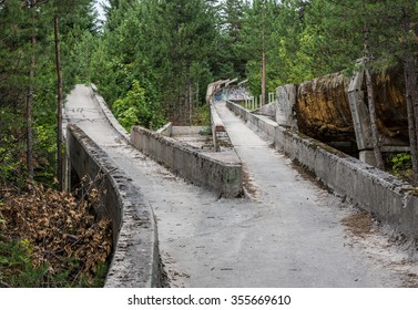 damaged Olympic Bobsleigh and Luge Track in Sarajevo