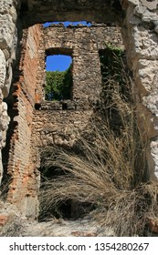 Damaged and ruined building after Bosnian War, Mostar, Bosnia and Herzegovina
