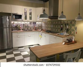 Damansara, Malaysia - April 16, 2018: Kitchen in the IKEA shop in Damansara, Malaysia. IKEA was found in Sweden in 1943