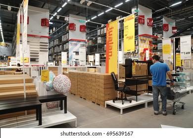 Damansara, Malaysia - August 14, 2017: Interior shot of IKEA Damansara Malaysia during member preview sale.