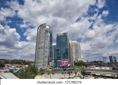 Damansara Uptown - January 7, 2017: Commercial building at Damansara Uptown surrounded with beautiful sky, Malaysia. One of the well develop area in Petaling Jaya area.