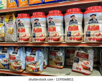 Damansara,Selangor / Malaysia - October 4 2018 - The Quaker Oats Company, known as Quaker, is an American food conglomerate based in Chicago