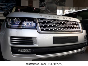 Damansara,Selangor,Malaysia - June 21,2018 : Range Rover car. The Range Rover is a British made, full-sized (SUV)luxury sport utility vehicle under Land Rover family.