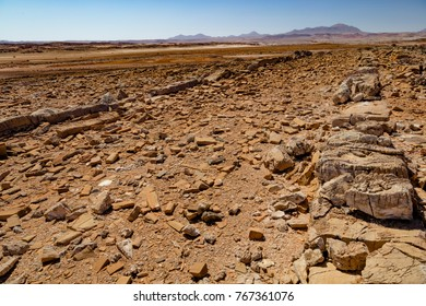 Damaraland view with rocky wall and stunning view