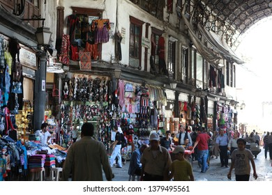 DAMASCUS, SYRİA- Daily life in Damascus in the second year of the war. The Photo Taken, July 18, 2012.