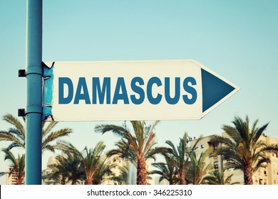 Damascus Road Sign