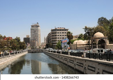 Damascus / Syria - April 28, 2010: A view of Damascus from the Syrian capital