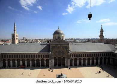 Damascus / Syria - April 29, 2010: Damascus Umayyad Mosque