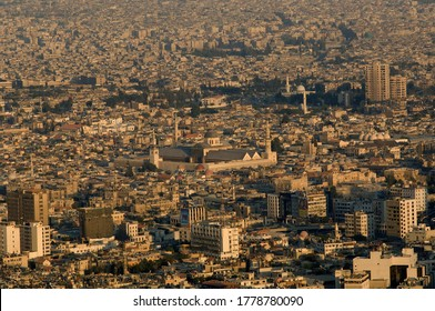 Damascus, Syria. April 3rd 2005Aerial view of the Syrian capital Damascus seen from mount Qasyun
