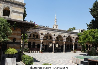 Damascus, Syria- Azem Palace, a building belonging to the Ottoman Empire period, is one of the historical places of tourists visiting Damascus. July 18, 2012.