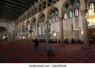 DAMASCUS, SYRIA- An image from the Umayyad Mosque in the capital of Damascus in the second year of the Syrian war. The photo taken, July 18, 2012.