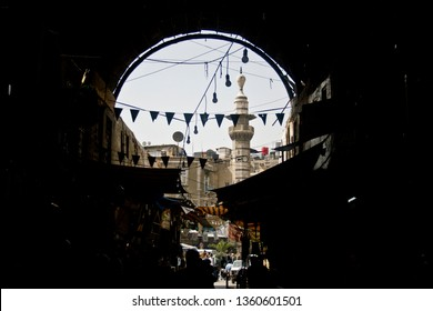 Damascus, Syria - March 6, 2011: Market place in Damascus, Syria