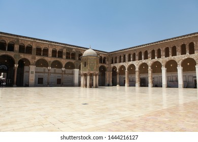 DAMASCUS, SYRIA- A view from the Umayyad Mosque in the capital Damascus of Syria. July 18, 2012.