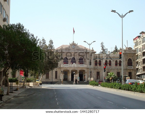Damascussyria April 11 2008 Old Disabled Stock Photo (Edit