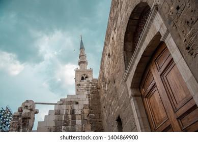 "Damascus/Syria/April/2019 "" Umayyad Mosque Old Damascus / Spring"