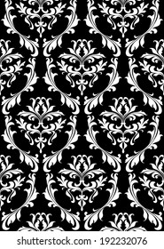 Damask seamless pattern with decorative floral elements. Vector version also available in gallery