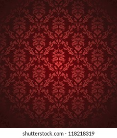 Damask seamless pattern.  For easy making seamless pattern just drag all group into swatches bar, and use it for filling any contours. Raster version.