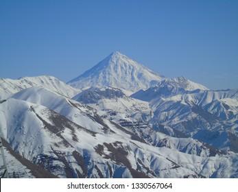 Damavand mountain,highest mountain in Iran