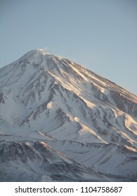 Damavand mountaintop from Ab-ali Iran