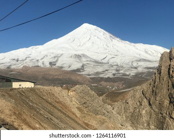 Damavand peak:Damavand Peak, with a height of 5610 meters (18410 feet), is a symbol of Iran, one of the highest peaks in Asia and located in the center of the Alborz Mountains.
