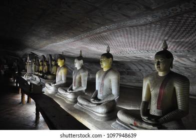 Dambulla ancient cave temple in Sri Lanka