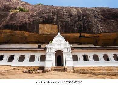Dambulla Cave Temple or Golden Temple of Dambulla. Cave Temple is a World Heritage Site near Dambulla city, Sri Lanka.