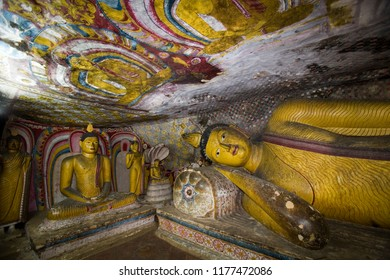 Dambulla. Sri Lanka. 10.27.06. Buddhist statues inside the Cave Temples at Dambulla in the Cultural Triangle in Sri Lanka.